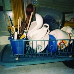 Figure 3.4 Doing dishes. Gina, age 10