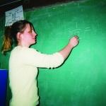 Figure 4.3 Our helper teacher. Cheryl, age 10